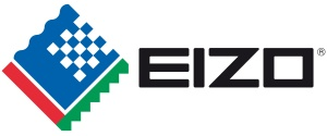 EIZO logo; global monitor manufacturer of Coloredge screens