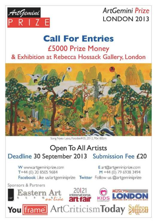 Art Gemini Prize Call for Entries #artists #photographers #competition #prize